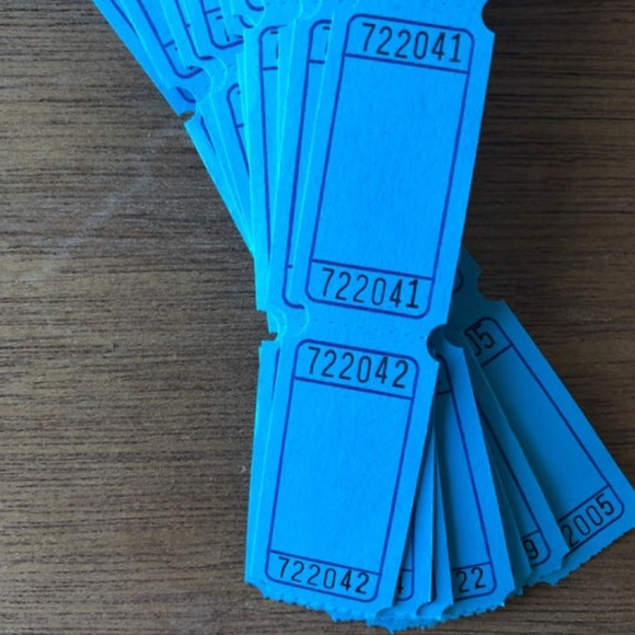 Carnival Tickets Paper Pack 40 BLUE Tickets
